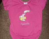 Gymnastic Gymnast  Girls Toddler Tumbling Leotard Hot Pink  Size Medium 2-4T Personalized