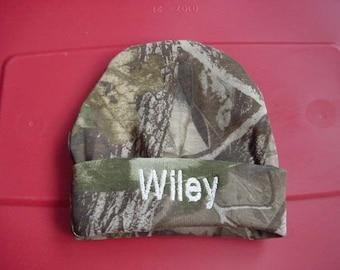 Personalized Toddler size  Beanie Hat Cap Embroidered Camouflage Camo for Boy or Girl
