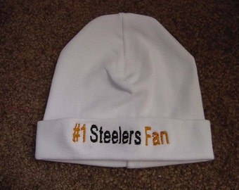 Pittsburgh Steelers Football Baby Infant Newborn Hat Embroidery