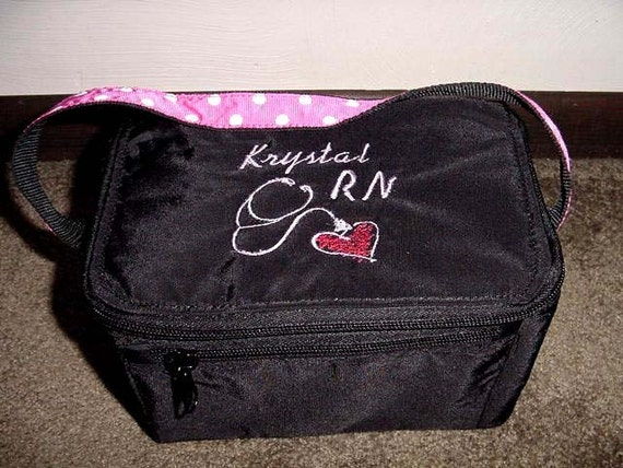 Nurse Tote Large Lunch Snack Bag Personalized Embroidered