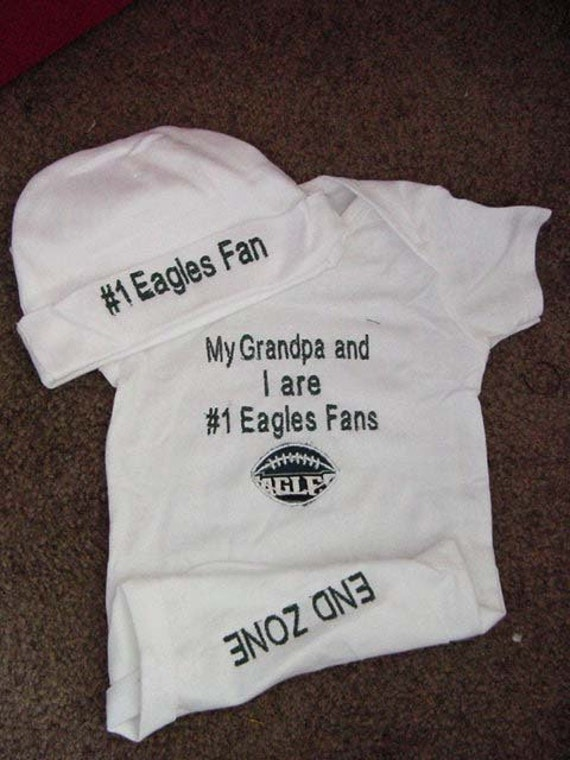 Items Similar To Philadelphia Eagles Football Baby Infant