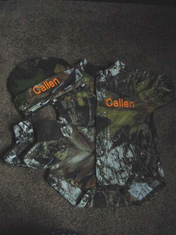 Mossy Oak Camo Camouflage 3PC Baby Infant Newborn Set Personalized Boy or Girl
