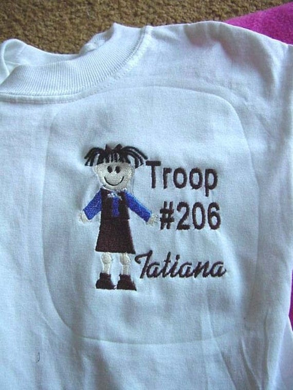Girls scout brownie troop t shirt sweatshirt long sleeves for Girl scout troop shirts