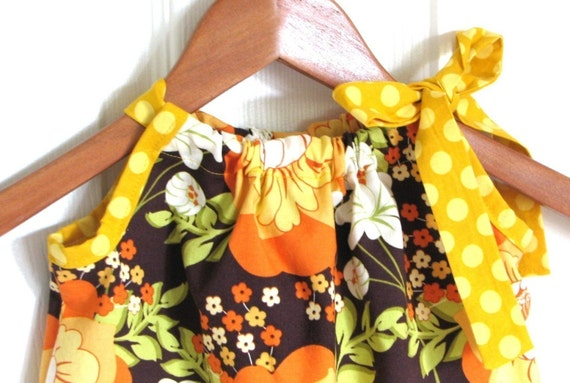 Pillowcase Dress in Meadowsweet Pumpkin