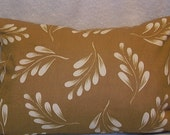 NEW, Toss, throw Pillow Cover / Sham / Cushion, most sizes available, decorator weight, Beige n White, leaves.