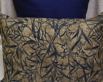 FREE SHIP, Lumbar size Pillow Cover, leaves designs, 14 x 20 and others.