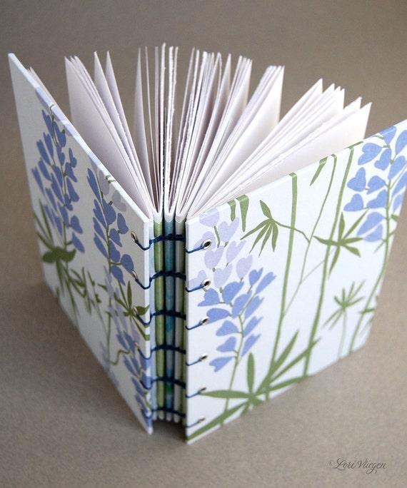 purple heart vine - blank coptic journal