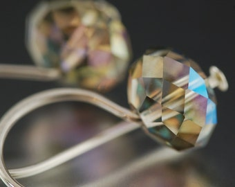 Valentine's Day gift dark enchanting green earrings swarovski crystal earrings  gifts for her