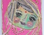 Pink Holi Face