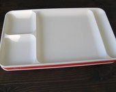 RED Vintage Tupperware Trays 2 for 8