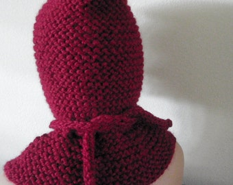 Hooded Capelet Collection  - Cerise