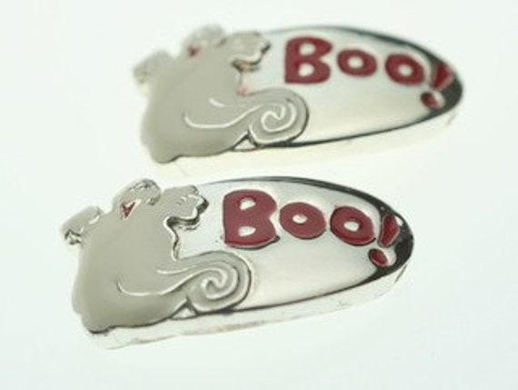 BOO Halloween with Ghost Slide Charms - 2 Pieces