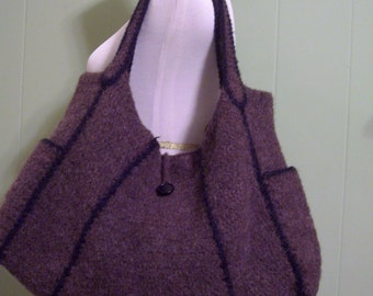 PATTERN - Chika Modular Felted Bag Pattern- PHOTO TUTORIAL - Felted Purse Pattern - pdf digital download