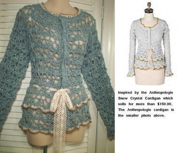 PATTERN - Julia Crochet Cardigan Pattern - Crochet Bolero Pattern - pdf digital download - bolero shrug crochet pattern