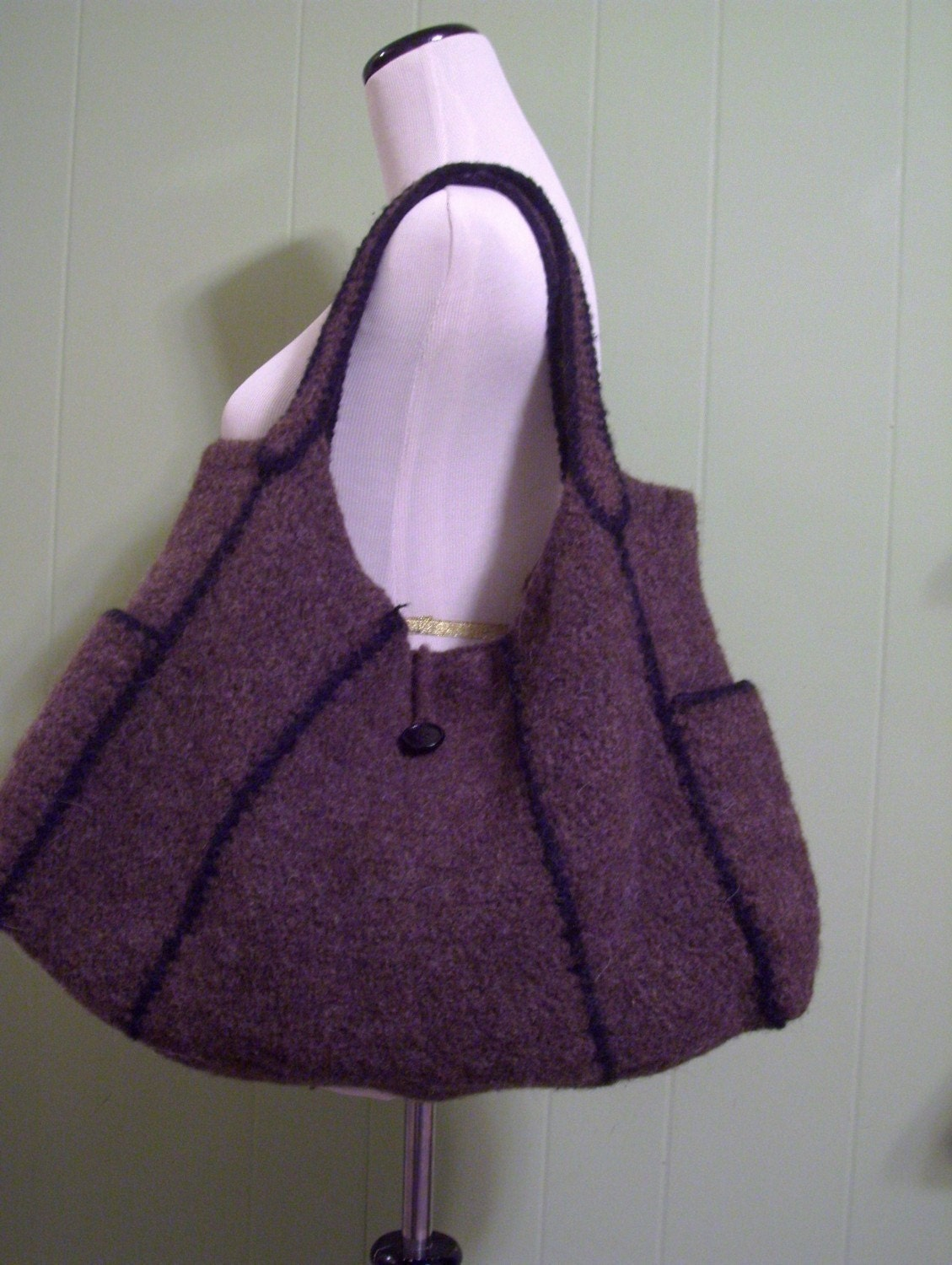 Crochet Felted Tote Bag Pattern : PATTERN Chika Modular Felted Bag Pattern PHOTO TUTORIAL