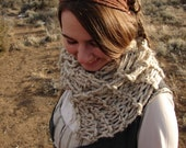 Genevieve Scarf- super long chunky hand knit scarf- pick your color