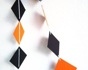 Square Garland Black Orange 10 ft Adjustable Square diamond