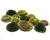 Handmade Spiral Flowers - As Seen in 'Bride's' Mag. 6/10 - Spring Green - Set of 12