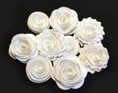 Handmade Spiral Flowers - As Seen in 'Bride's' Magazine - 6/10 - Wedding White -  9