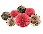 NEW Handmade Spiral Flowers 'Diva,' Set of 7