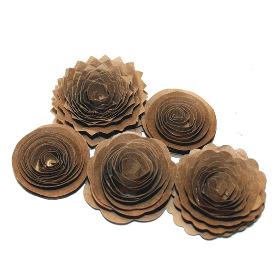 NEW Crafter's Favorite Handmade Spiral Flowers - Kraft