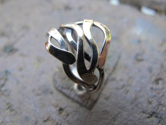 Kelp silver ring