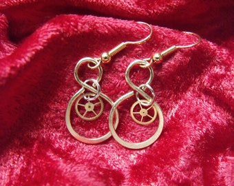 Loops and Gears Steampunk Lolita Earrings