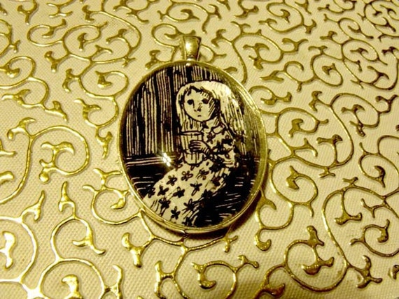 Z is for Zillah Who Drank Too Much Gin Edward Gorey Pendant