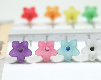 Flower Sewing Pins - Set of 8