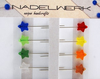 Star Sewing Pins - Set of 8