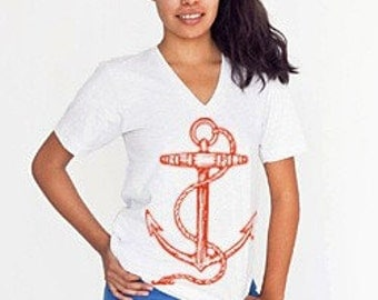 Red Anchor Small Unisex V Neck featured in Foam Magazine