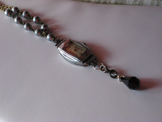 Vintage Art Deco Steampunk Necklace - Free Shipping