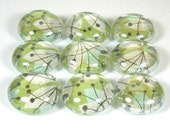 Marble Magnets or Push Pins Set - Retro Lily Flowers