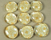 Marble Magnets or Push Pins Set - Golden Yellow Daisies
