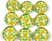 Glass Marble Magnets or Push Pins Set -  Lemon and Lime