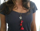 The Sweet Red Bloom .. neclace