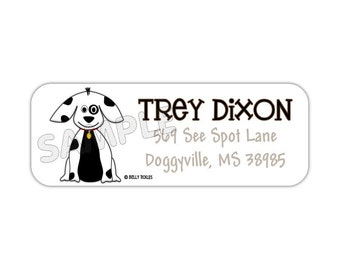 LIL SPOT choose one design-- return address labels, quantity of 30--- this listing is for MATTE stickers