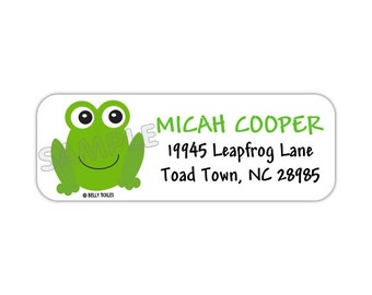 Froggie---return address labels, quantity of 30-- this listing is for MATTE stickers