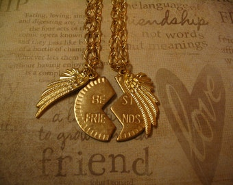 Best Friend Angel Wings Necklaces for Mother Daughter Sisters or Friends