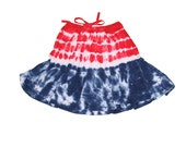 Tie Dye Skirt in Red, White and Blue for the 4th of July
