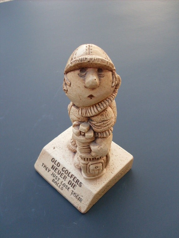 Old Golfers 60's Figurine