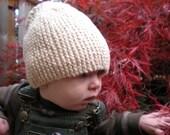 Creamy Organic cotton hat 0-24 months