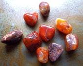 carnelian beads 9 pcs