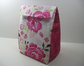 Insulated Lunch Bag - Back to School - Pink Rose Bouquet DC-11