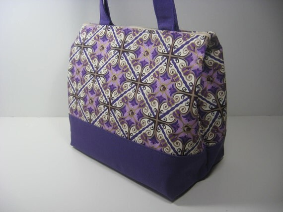 Insulated Lunch Bag Purse - Purple Jewel
