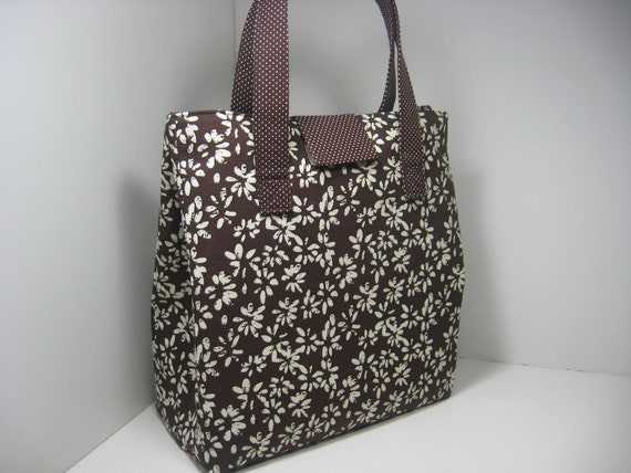 Insulated Lunch Bag  Tote Purse - Splash