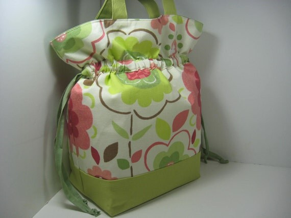 Insulated Lunch Bag Tote - Fun Flowers