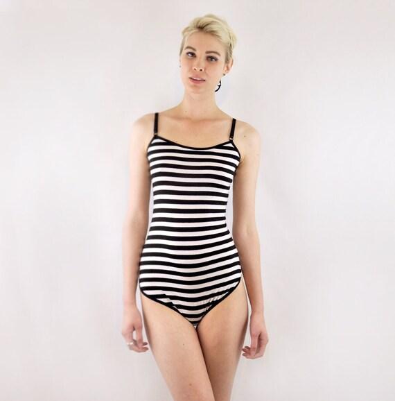 Stripy bodysuit all in one lingerie romper