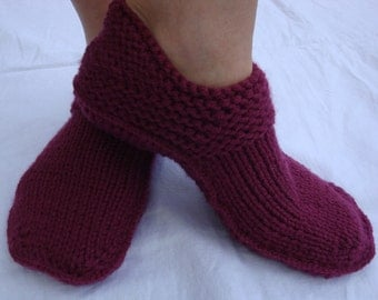 Slipper Shoes - Warm Slippers - Knitted Slippers - Home Shoes - Moccasin Slipper - Womens