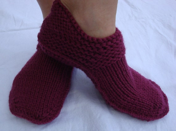 Items similar to Slipper Shoes - Warm Slippers - Knitted Slippers - Home Shoe...